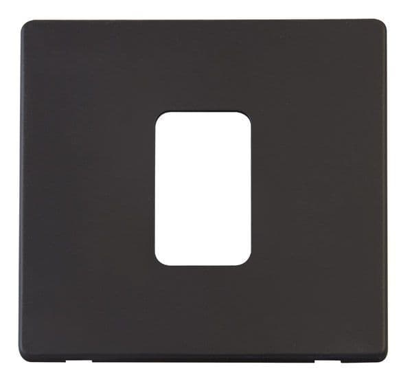 Click Definity SCP200BK 45A 1 Gang Plate Switch Cover Plate - Black