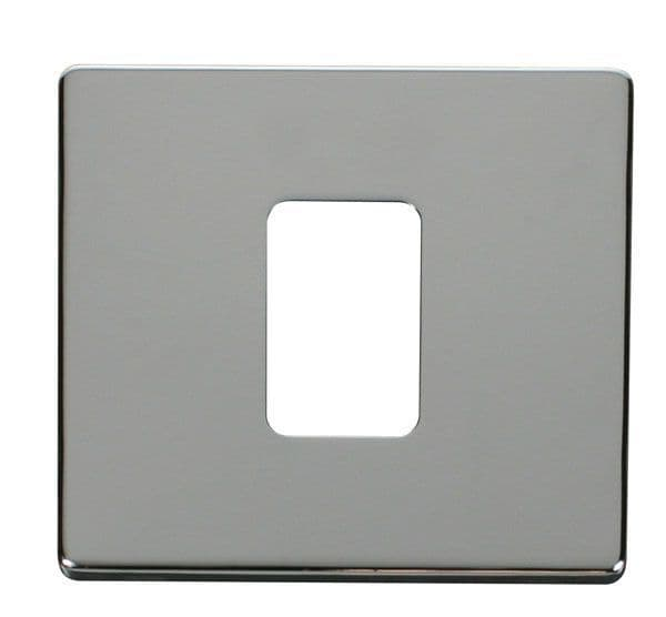 Click Definity SCP200CH 45A 1 Gang Plate Switch Cover Plate - Chrome