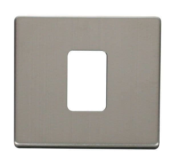 Click Definity SCP200SS 45A 1 Gang Plate Switch Cover Plate - Stainless Steel