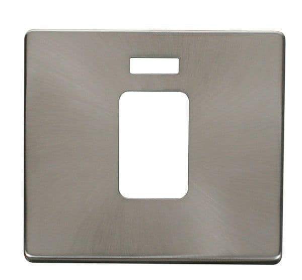Click Definity SCP201BS 45A 1 Gang Plate Switch With Neon Cover Plate - Brushed Stainless