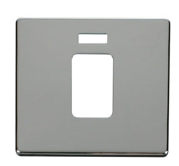 Click Definity SCP201CH 45A 1 Gang Plate Switch With Neon Cover Plate - Chrome