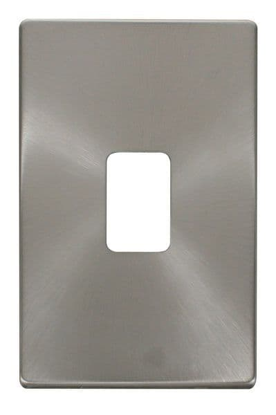 Click Definity SCP202BS 45A 2 Gang Plate Switch Cover Plate - Brushed Stainless