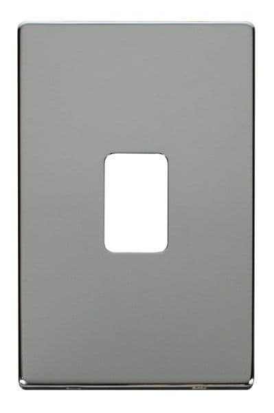 Click Definity SCP202CH 45A 2 Gang Plate Switch Cover Plate - Chrome