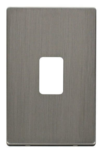 Click Definity SCP202SS 45A 2 Gang Plate Switch Cover Plate - Stainless Steel