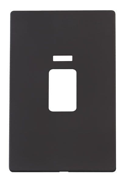Click Definity SCP203BK 45A 2 Gang Plate Switch With Neon Cover Plate - Black