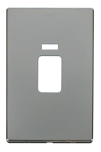 Click Definity SCP203CH 45A 2 Gang Plate Switch With Neon Cover Plate - Chrome