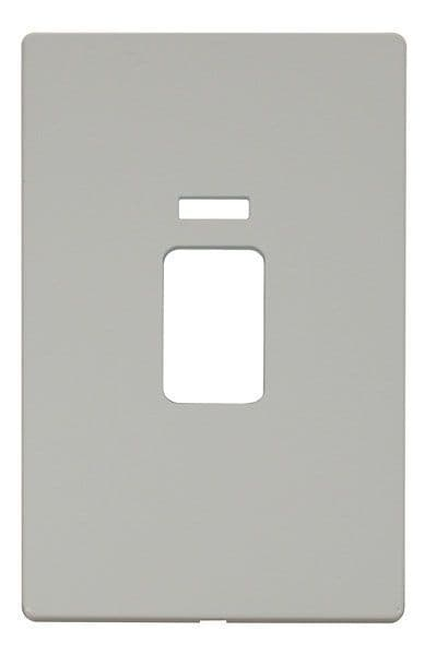 Click Definity SCP203PW 45A 2 Gang Plate Switch With Neon Cover Plate - White