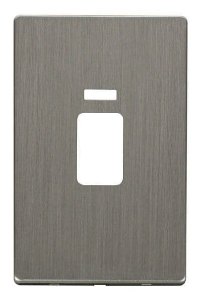 Click Definity SCP203SS 45A 2 Gang Plate Switch With Neon Cover Plate - Stainless Steel