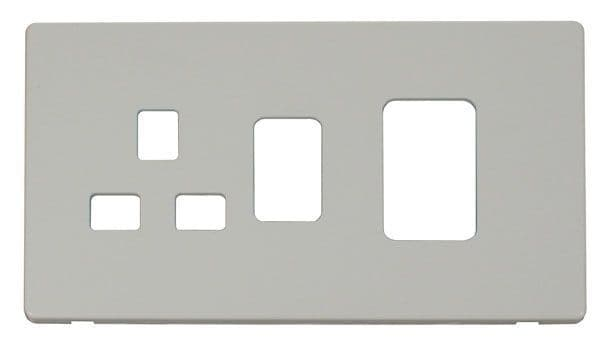 Click Definity SCP204PW 45A Switch + 13A Switched Socket Cover Plate - White