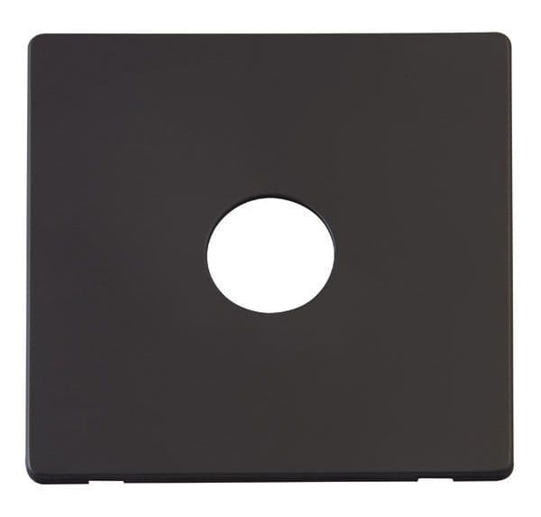 Click Definity SCP221BK 1 Gang Toggle Switch Cover Plate - Black