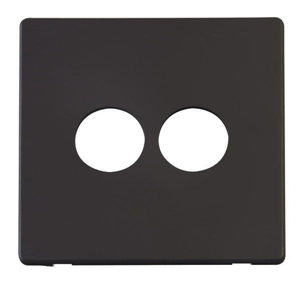 Click Definity SCP222BK 2 Gang Toggle Switch Cover Plate - Black