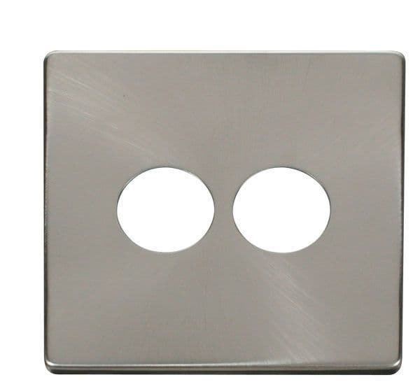 Click Definity SCP222BS 2 Gang Toggle Switch Cover Plate - Brushed Stainless