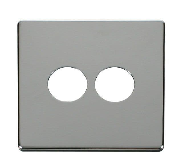 Click Definity SCP222CH 2 Gang Toggle Switch Cover Plate - Chrome