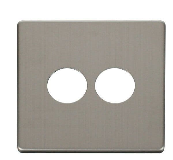 Click Definity SCP222SS 2 Gang Toggle Switch Cover Plate - Stainless Steel