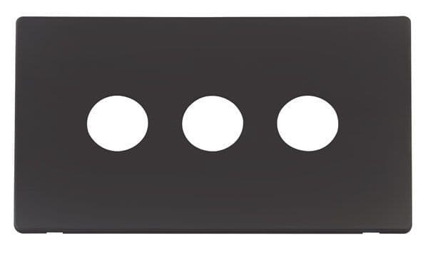 Click Definity SCP223BK 3 Gang Toggle Switch Cover Plate - Black