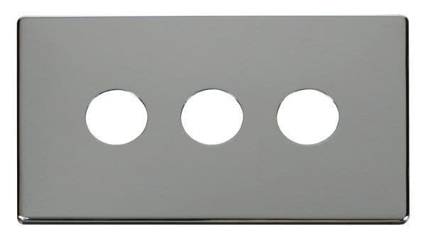 Click Definity SCP223CH 3 Gang Toggle Switch Cover Plate - Chrome