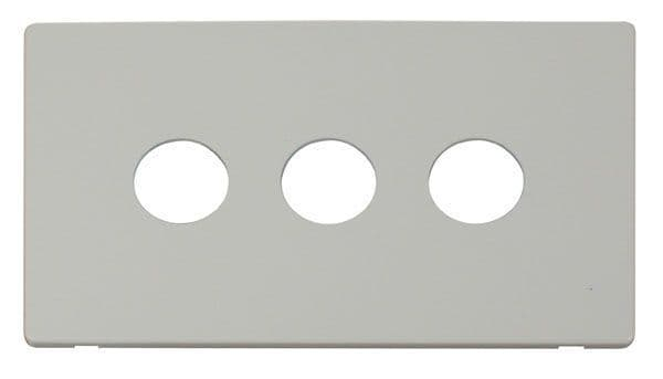 Click Definity SCP223PW 3 Gang Toggle Switch Cover Plate - White