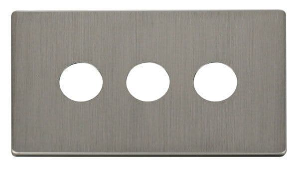 Click Definity SCP223SS 3 Gang Toggle Switch Cover Plate - Stainless Steel