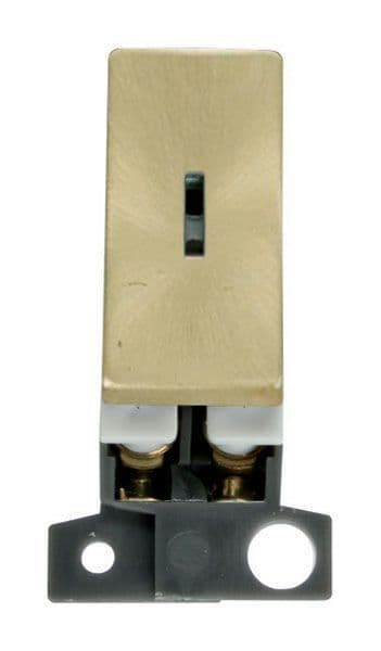 Click Mini Grid MD003SB 2 Way Ingot 10AX Keyswitch - Satin Brass