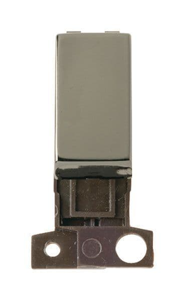 Click Mini Grid MD004BN 2 Way Retractive Ingot 10A Switch - Black Nickel