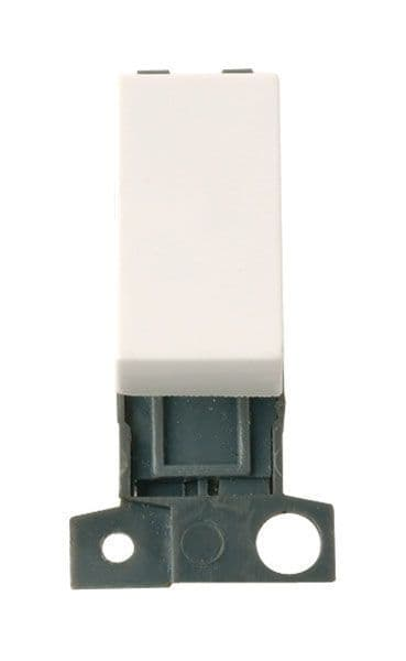 Click Mini Grid MD004PW 2 Way 10A Retractive Switch - Polar White