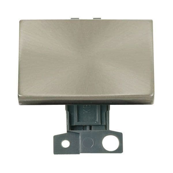Click Mini Grid MD009BS 2 Way Ingot 10AX Paddle Switch - Brushed Stainless Steel