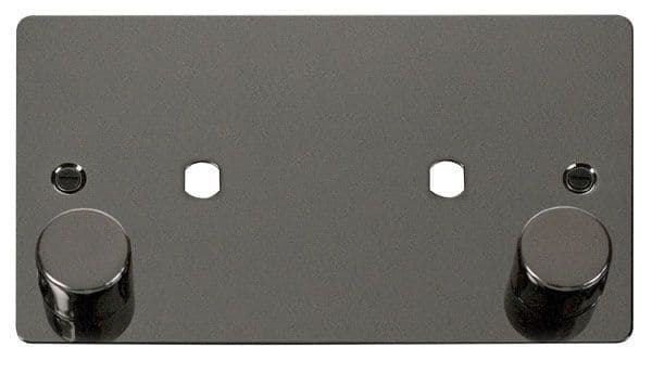 Click Scolmore FPBN186 2 Gang Plate 2 Module (1630W Max)