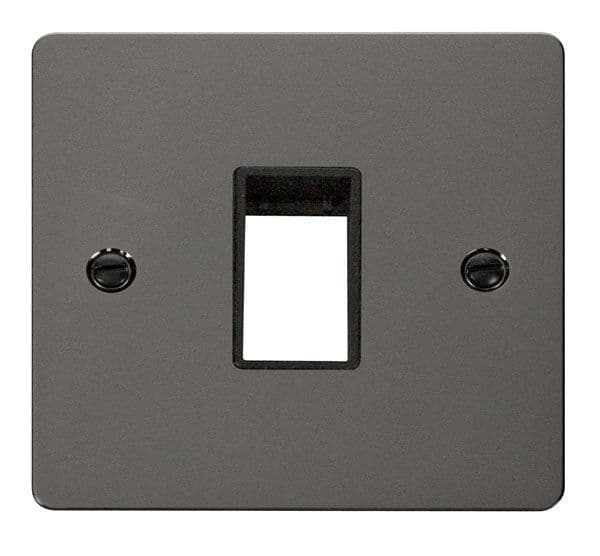 Click Scolmore FPBN401BK 1 Gang Plate Single Switch Aperture  - Black