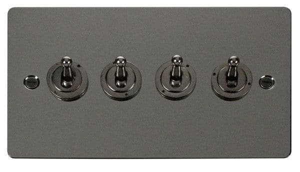 Click Scolmore FPBN424 10AX 4 Gang 2 Way Toggle  Switch