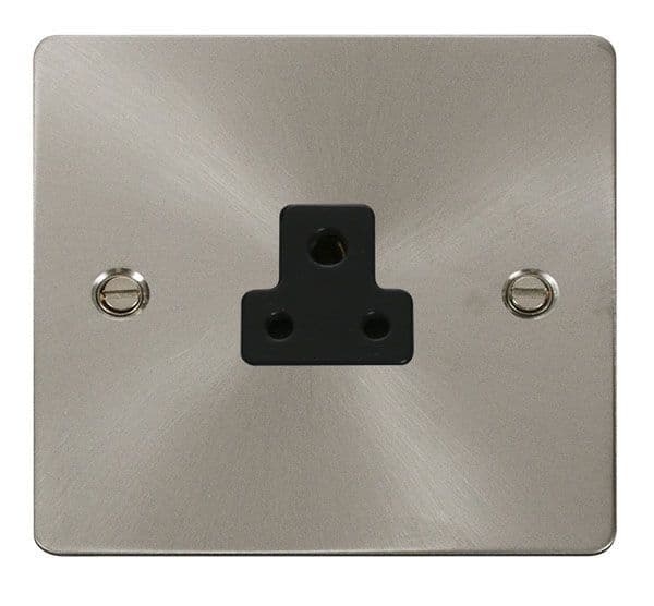 Click Scolmore FPBS039BK 2A Round Pin Socket Outlet  - Black
