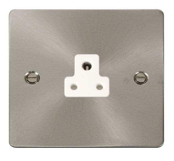 Click Scolmore FPBS039WH 2A Round Pin Socket Outlet  - White