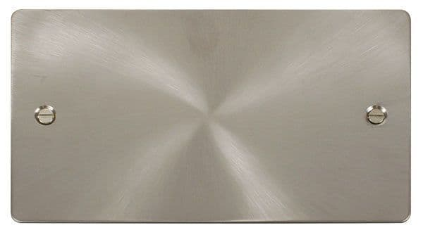 Click Scolmore FPBS061 2 Gang Blank Plate