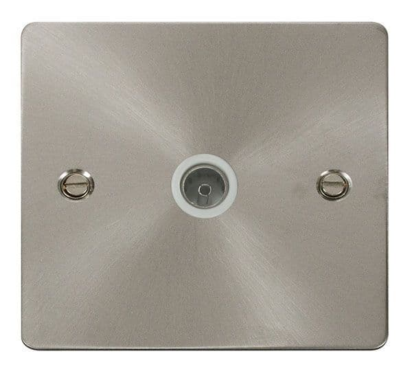 Click Scolmore FPBS065WH 1 Gang Coaxial Socket  - White