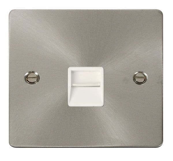 Click Scolmore FPBS120WH Single Telephone Socket Master  - White