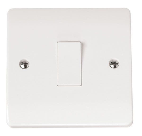 Click Scolmore MODE CMA010 10AX 1 Gang 1 Way Plate Switch