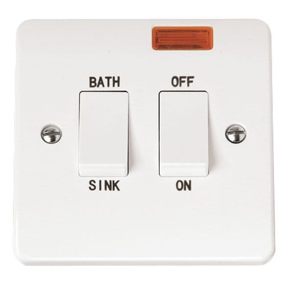 Click Scolmore MODE CMA024 20A DP Sink Bath Switch With Neon
