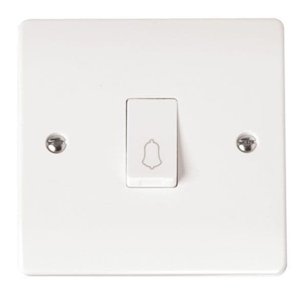 Click Scolmore MODE CMA027 10AX 1 Gang 1 Way Retractive Switch Bell