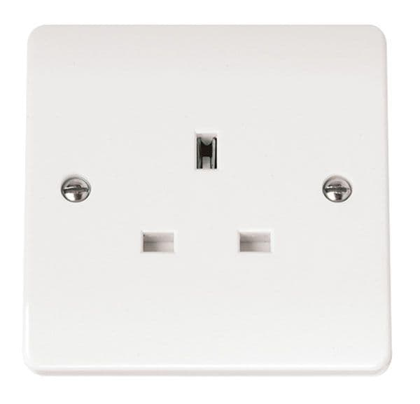 Click Scolmore MODE CMA030 13A 1 Gang Unswitched Socket Outlet