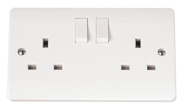 Click Scolmore MODE CMA037 13A 2 Gang DP Switched Socket Outlet Clean Earth