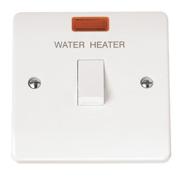 Click Scolmore MODE CMA042 20A DP Switch With Neon Water Heater