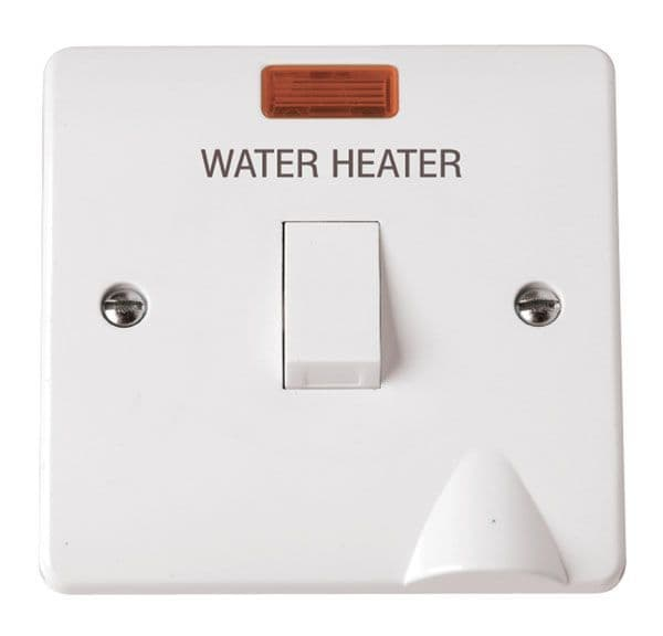 Click Scolmore MODE CMA046 20A DP Switch Water Heater with Flex Outlet & Neon