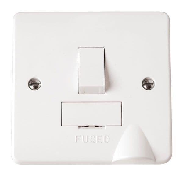 Click Scolmore MODE CMA051 13A Fused Connection Unit DP Switched with Flex Outlet