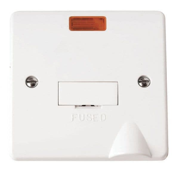 Click Scolmore MODE CMA053 13A Fused Connection Unit with Flex Outlet & Neon