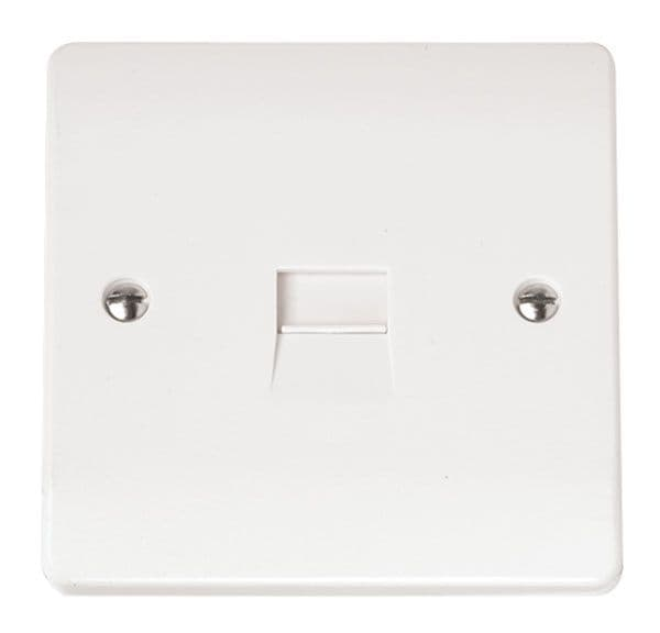 Click Scolmore MODE CMA119 Single Telephone Outlet - Master