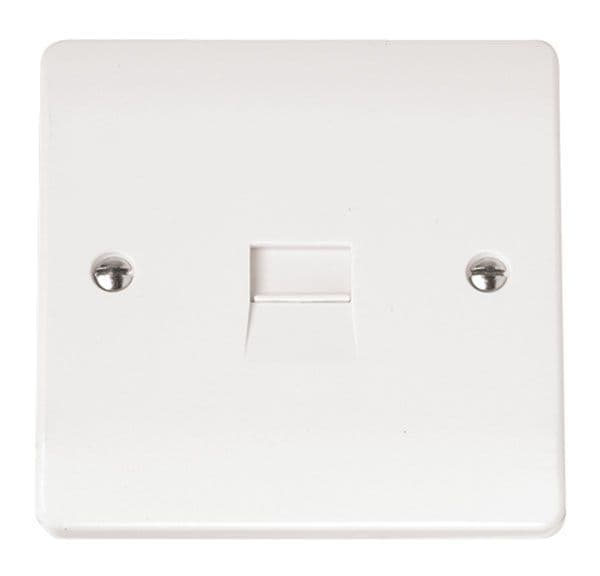 Click Scolmore MODE CMA124 Single Telephone Outlet - Secondary