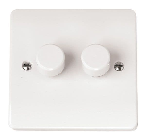 Click Scolmore MODE CMA146 2 Gang 2 Way 250Va Dimmer Switch