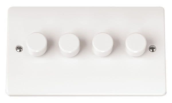Click Scolmore MODE CMA148 4 Gang 2 Way 250Va Dimmer Switch