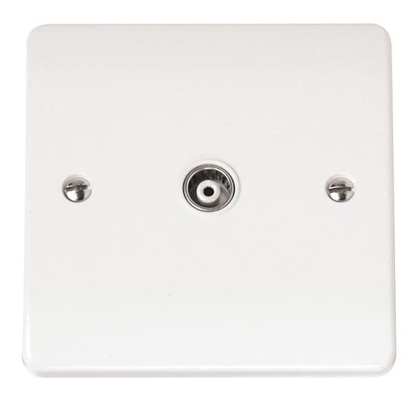 Click Scolmore MODE CMA158 Single Isolated Coaxial Plate