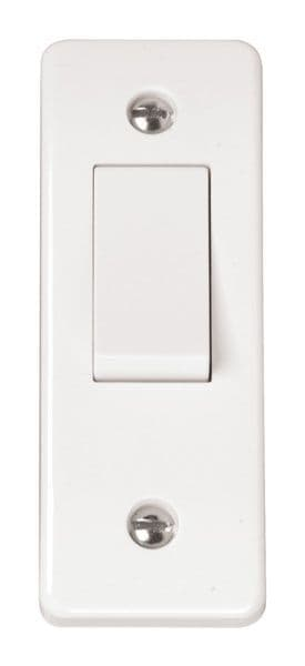 Click Scolmore MODE CMA171 10AX 1 Gang 2 Way Architrave Switch