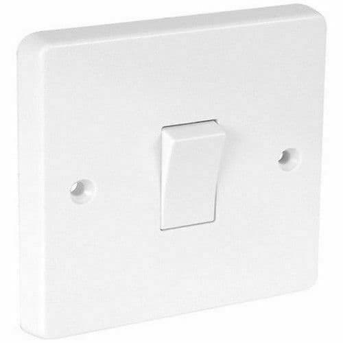 Crabtree 4015 White Moulded Double Pole Switch 20A